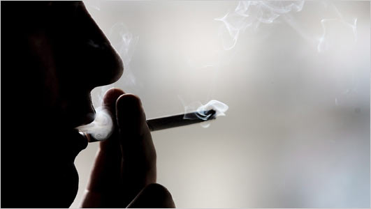 Cigarette qui se consumme