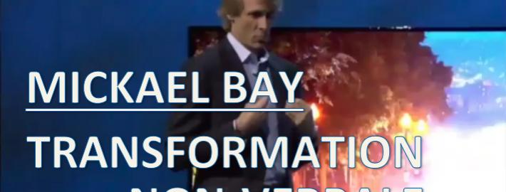 Le langage corporel de fuite de M. Bay