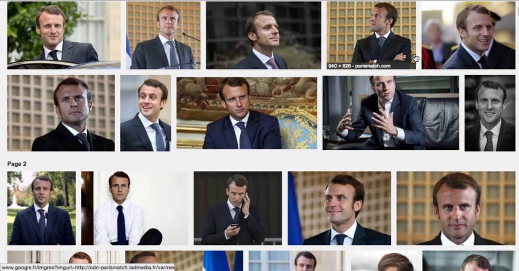 Images d'Emmanuel Macron sur Google Images